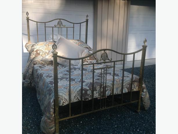 vintage brass bed square rails