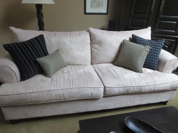 Sofa, Loveseat, Matching Ottoman and Lamp...Like New!