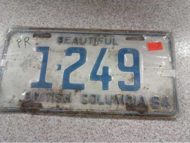 BC 1964 Plates