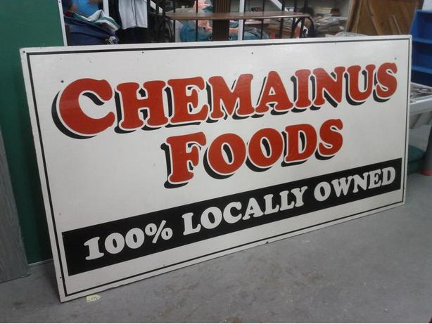 Chemainus Food Sign