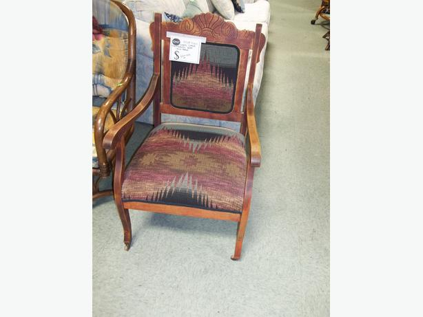 Wood Pattern backed chair - SVDP Yates St Victoria City ...