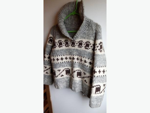 "Knitted ""cowichan"" sweater"