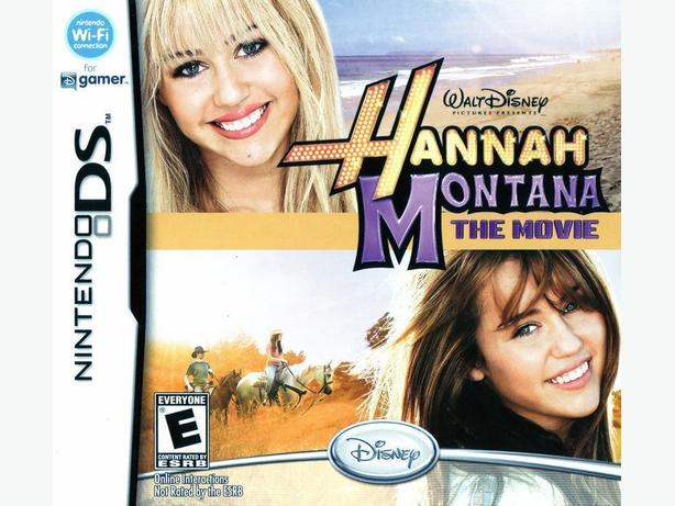DISNEY HANNAH MONTANA THE MOVIE NINTENDO DS GAME IN ORIGINAL CASE