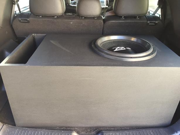 "15"" B2 Audio HN dual 2 ohm sub in custom ported spec box"