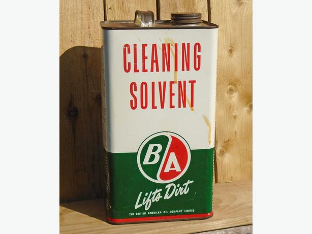 VINTAGE 1954's B/A CLEANING SOLVENT IMPERIAL GALLON CAN