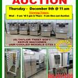 OVENS STOVES RANGES HOODS TABLES CHAIRS ICE MACHINES AUCTION