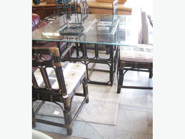 dining room suite rattan table frame esquimalt view royal victoria