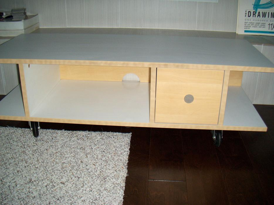 ikea birch and white with wheels t v stand saanich victoria mobile. Black Bedroom Furniture Sets. Home Design Ideas