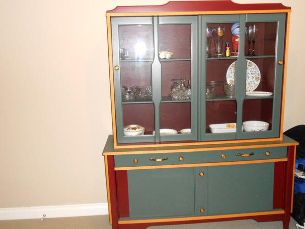 Two Piece Display Cabinet