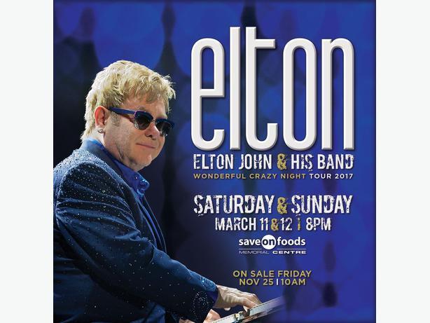 Elton John Saturday March 11 2017