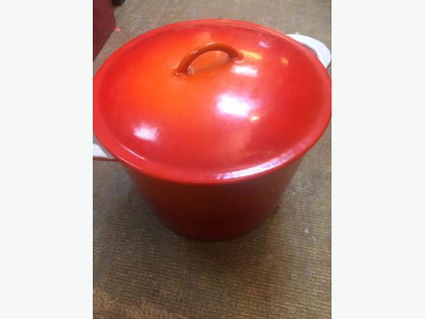 large iron pot