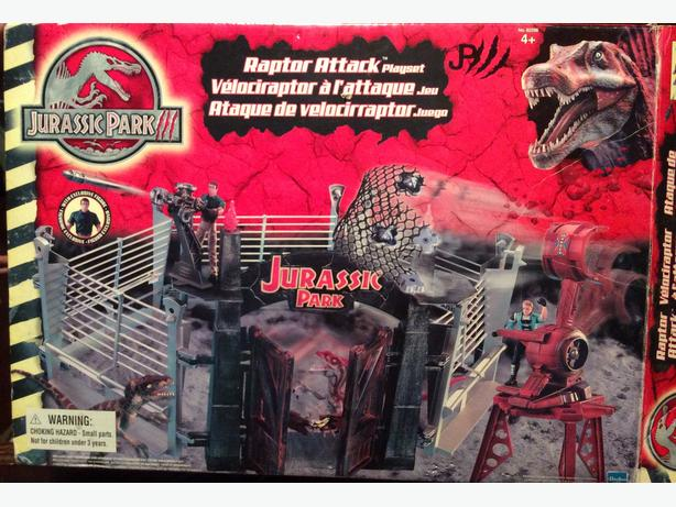 jurassic park raptor play set