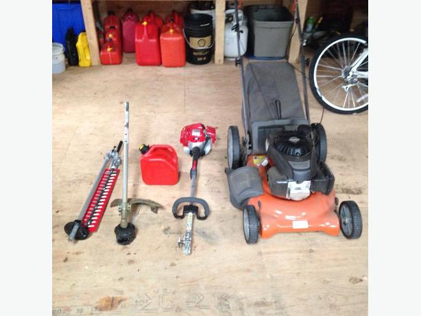 Push Mower and Weedwacker