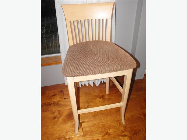 3 Quality Italian Made High Stools With Back Rest Outside