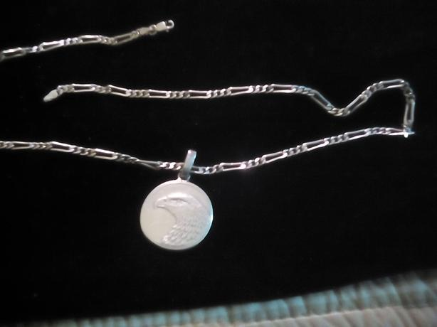 Sterling silver chain with eagle pendant