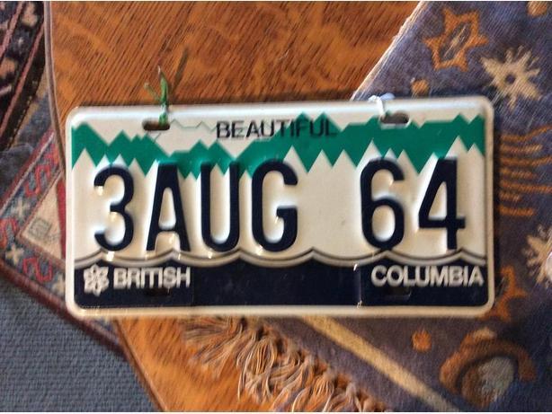 Pair license plates.