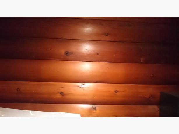 FREE: Cedar half round planking for walls,