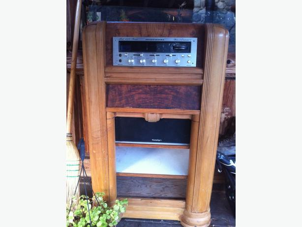 antique radio/sound system stand