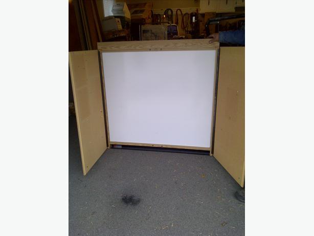 Lighted White Board Slim Cabinet North Regina Regina