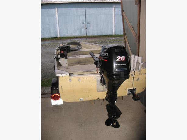 Boat Trailer And 20 Hp Suzuki Outboard For Sale Powell
