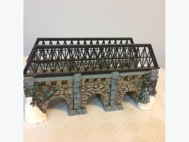 Dept 56 Stone Train Bridge (Christmas or Train)