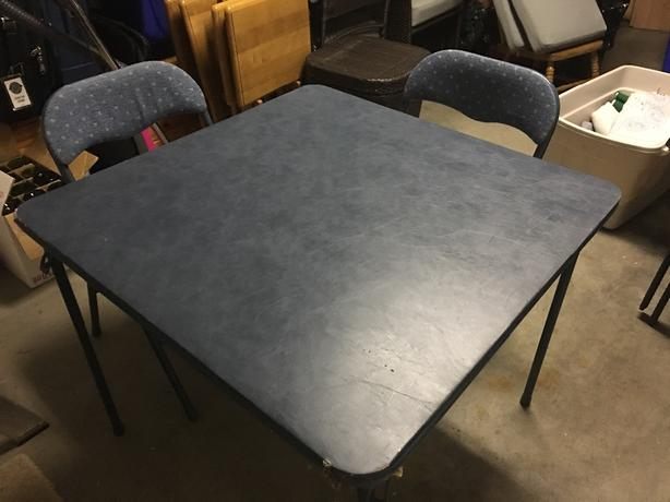 Moving Sale - Folding Table + 4 Chairs