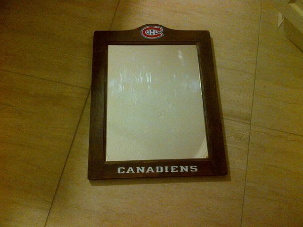 Miroir canadiens de montr al en bois hull sector quebec for Miroir montreal