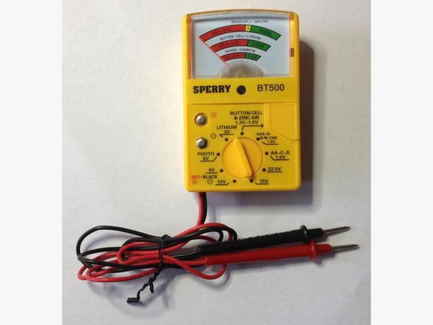 """Sperry"" Battery Tester BT500 – Brand New"