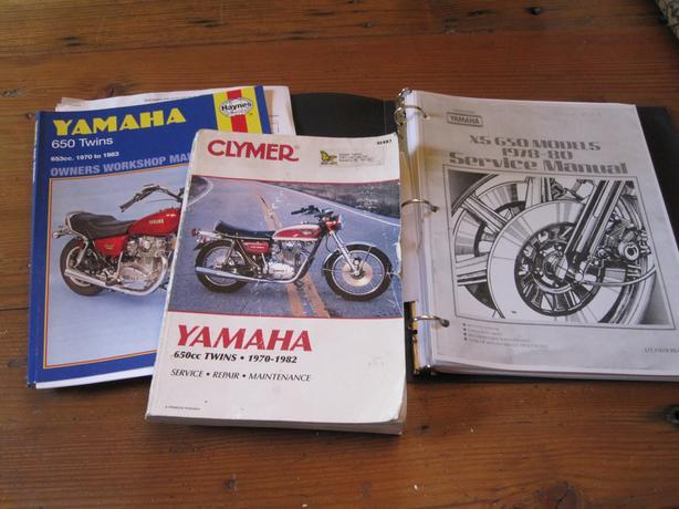 Yamaha xs 650 twins manuals