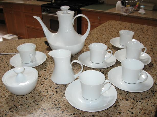 White china demitasse set