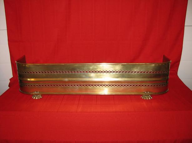 Old English Brass Fire Fender