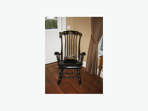 Antique Hand-Painted Swedish Rocking Chair