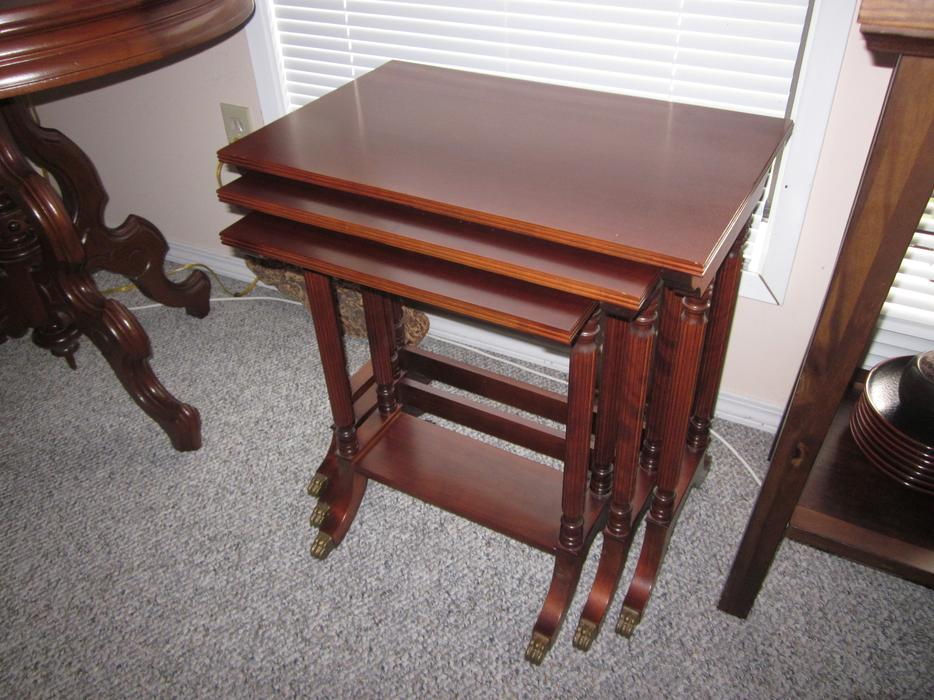 Antique Wood Nesting Tables Set Of 3 ~ Antique nesting tables set of parksville nanaimo mobile