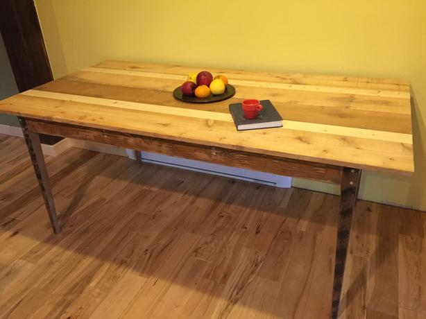 RECLAIMED SOLID WOOD HARVEST TABLE