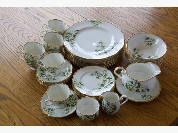 Royal Albert White Dogwood China - 8 place table setting