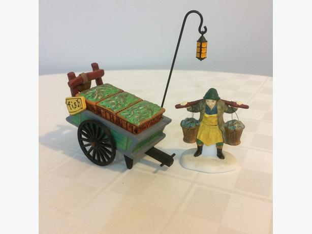 Dept 56 Fish Monger and Cart (Christmas)