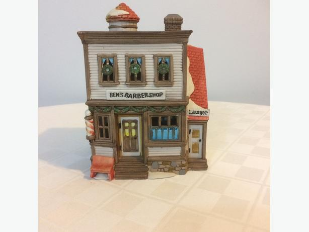 Dept 56 Ben's Barber Shop (Christmas)