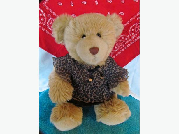 Soft Carmel Build-a-Bear in Leopard clothing 16""