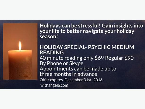 Give the Gift of a Reading with Angela- Holiday Special