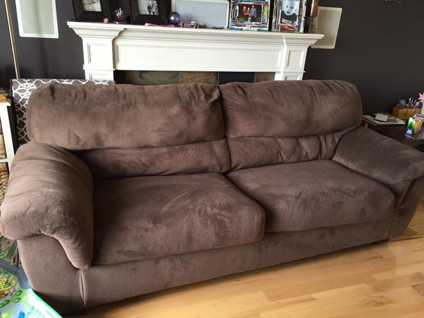 Hide a bed sofa and oversized chair with ottoman saanich victoria Large couch bed