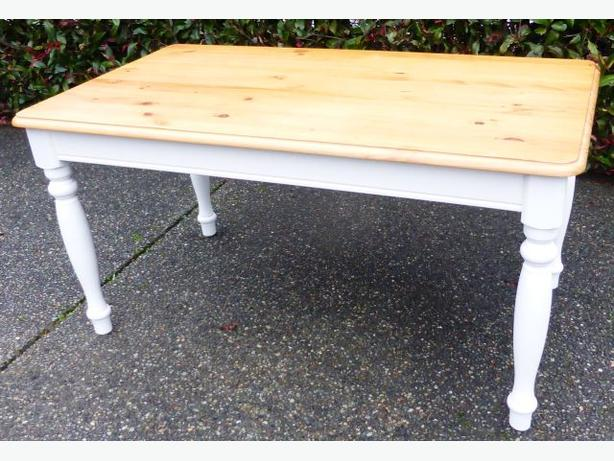 Pine Table with painted legs