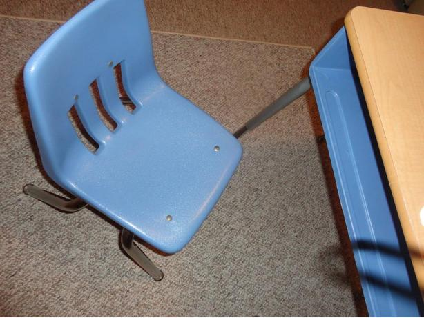 Cute Student desk with matching chair - Blue