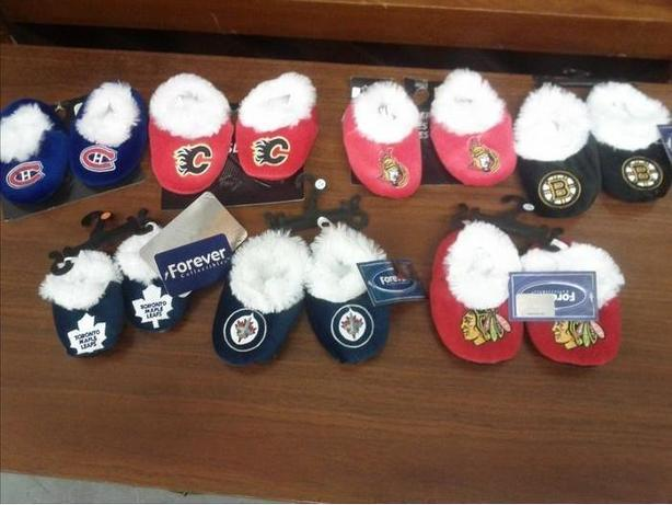 New NHL Baby Slippers