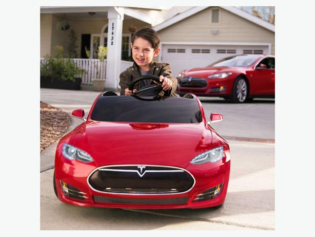 Tesla Model S for Kids - Mint with Extras