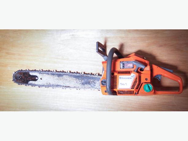 Husqvarna 141 chainsaw.