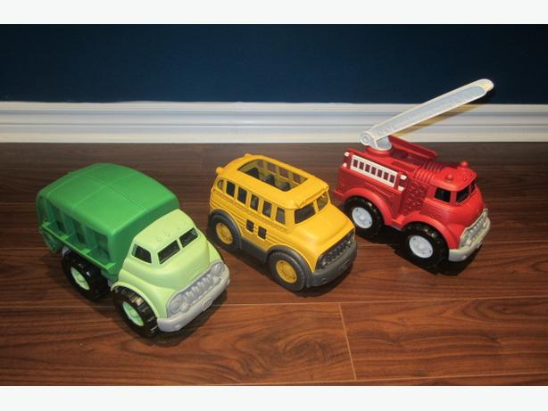 Toys 4 Trucks Green Bay : Green toys recycling truck school bus and fire