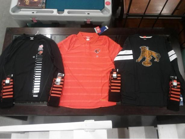 New Various BC Lions Apparel