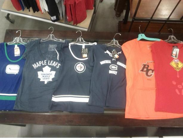 New NHL and CFL Women's Apparel