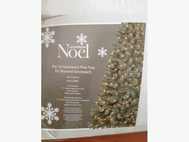 6 ' pine artificial christmas tree