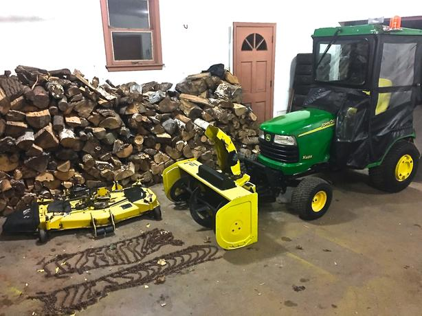 Heavy Duty John Deere with Cab Mower Blower etc